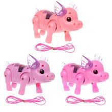 Bonito sonhador porco animal de estimação com luz caminhada música eletrônico animais de estimação robô brinquedos para crianças meninos meninas presente