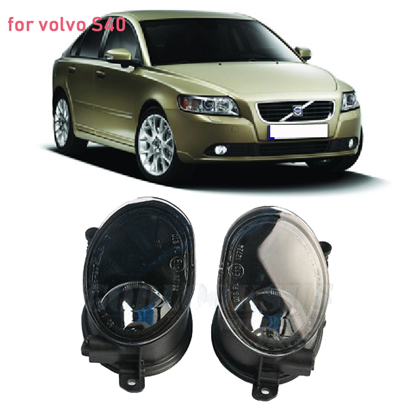 MIZIAUTO 1 Pair Right & Left Fog Light Lamp For Volvo S40 V50 2008 2009 2010 2011 without Bulb
