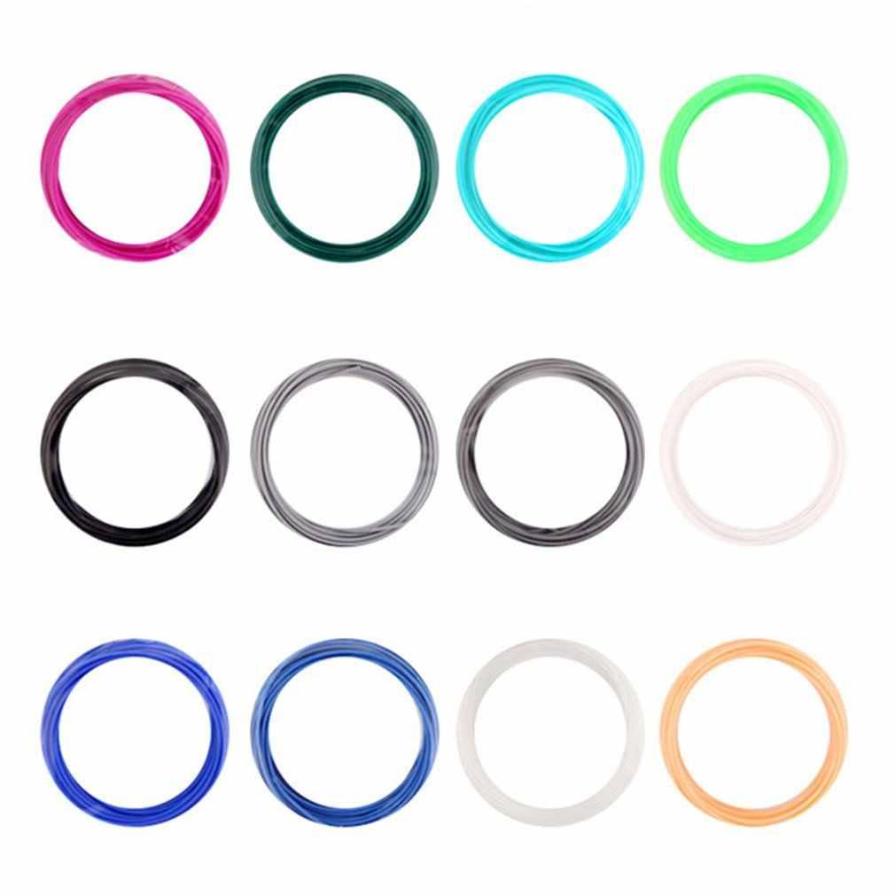 25 Warna 200 M/100 M PLA ABS PCL 3D Printing Filament Set 1.75 Mm Filamen Plastik Neon Cetak bahan untuk 3D Printer Pena