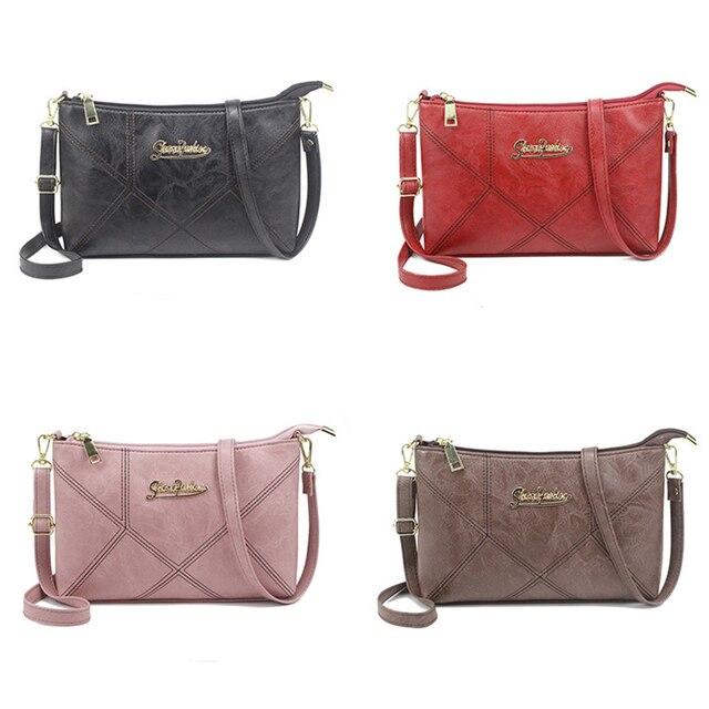 SMOOZA Retro Women Handbags Female Shoulder Crossbody Bags Ladies Artificial Leather Small Stripe Messenger Envelope Bags 6