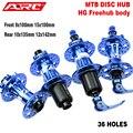 ARC 36 Löcher Lager Hub Disc MTB QR/steckachse Mountainbike Hub Rot/Blau/Schwarz Ultraleicht bike Fahrrad Hub 8 9 10 11 Geschwindigkeit