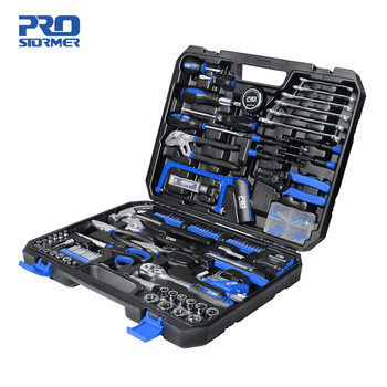 198Pcs Hand Tool Set DIY Home Repair Tool Kit Woodworking Tools Bag Car Repair Tool Set Wrench Saw Screwdriver By PROSTORMER 1