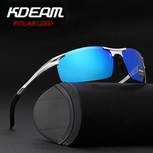 KDEAM Brand Aluminum Magnesium Mens Rectangle Sunglasses Polarized Men Coating Mirror Glasses oculos Male Eyewear Accessories