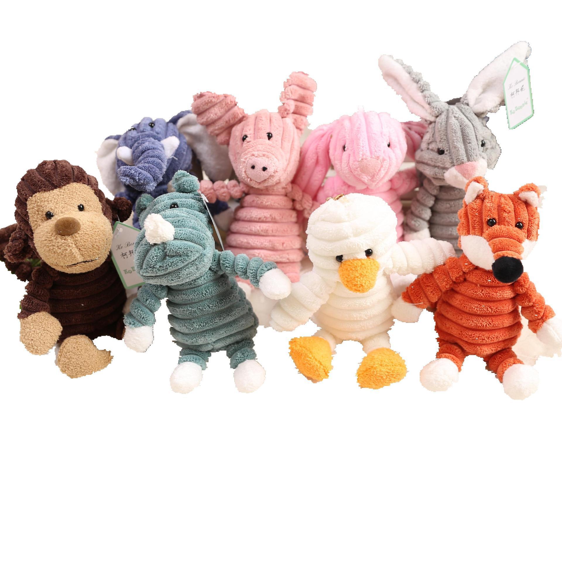 Elephant Rabbit Fox Pig Plush Toy Stuffed Soft Kawaii Animal Cartoon Keychain Lovely Gift For Kids Baby Children Good Quality
