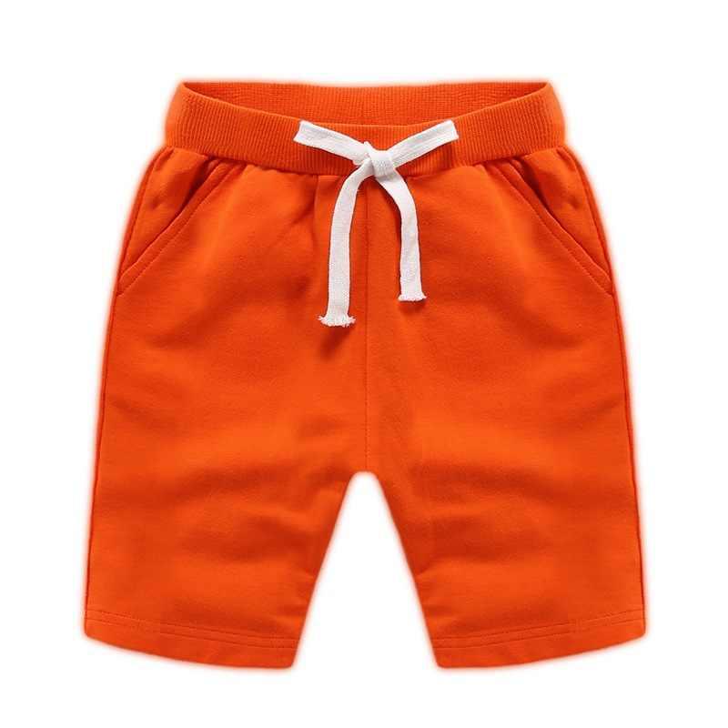 男の子レジャービーチパンツ 5 子供弾性美しい純粋な色キャンディカラースウェットパンツ 1.5-12 歳小売