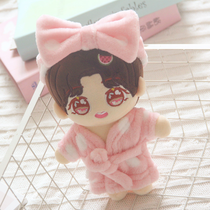 Powder Point Pajama Clothes Hair Tie 20cm Suit 20cm Baby Clothes Exo Doll Clothes Doll Accessories