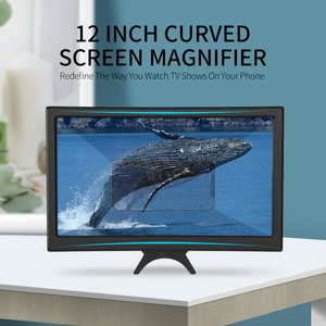 Image 2 - Coolreall Desk 12 Inch Mobile Phone HD Screen Video Magnifier Folding Curved Enlarged Movie Amplifying Projector Stand Bracket