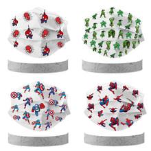 50 10 sztuk Disney Marvel Avengers Spider-man dzieci kreskówkowa maska 3 warstwy moda maska do osłony twarzy dla dzieci tusz do rzęs tanie tanio CN (pochodzenie) Masks Unisex kostiumy Marvel Avengers Captain America COTTON Disposable 4-12 Years old Kids Non-woven fabric+meltblown fabric