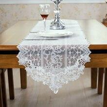 Европейский стиль домашний декор белый цвет вышивка сетка и