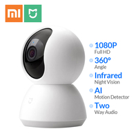 Новейшая версия Xiaomi Mi Смарт камера 360 угол 1080P HD Ночное видение Беспроводной WiFi IP Webcam умный дом Cam приложение для умного дома