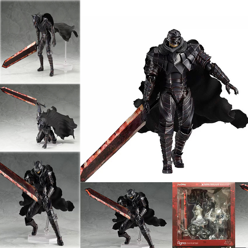 Figma 410 Berserk Black Swordman Action Figure Model Toys Doll For Gift
