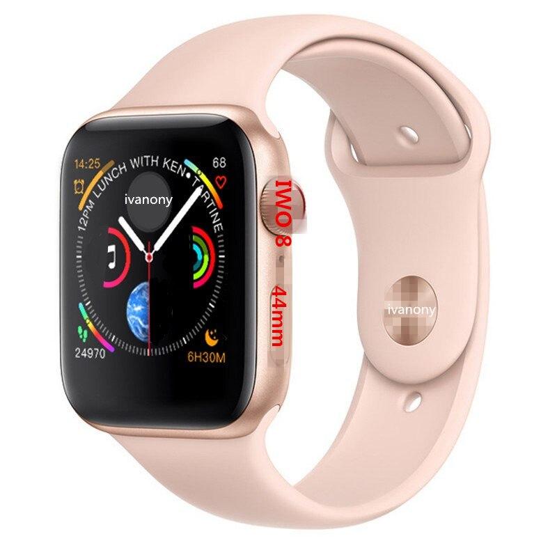 Montre intelligente IWO 8 44mm 1:1 Smartwatch hommes femmes ECG moniteur de fréquence cardiaque santé Fitness Tracker dispositif portable pour IOS Android