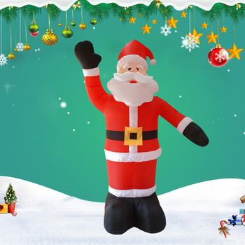 Santa Claus Cosplay Costumes Christmas Inflatable LED Waving  Inflatable Costumes Clothes Mascot Clothing Party Festival Dress