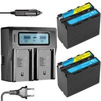 2 قطعة 7.4V 7800mAh NP-F960 NP-F970 NP F960 F970 قابلة للشحن بطاريات + LCD المزدوج شاحن أجهزة سوني HVR-HD1000 HVR-HD1000E HVR-V1J