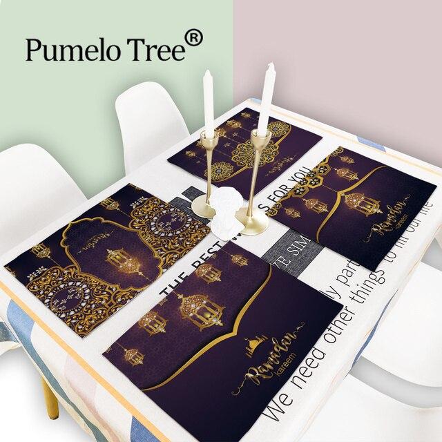ラマダンの装飾イスラム装飾eid装飾ホームテーブルプレイスマットgeburtstagsdekoラマダンmubarakラマダンカリーム家の装飾