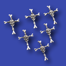 12 шт посеребренный Череп Подвески кресты ПАНК Ожерелья Браслеты