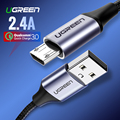 Ugreen Micro USB Kabel 2.4A Nylon Schnelle Ladung USB Daten Kabel für Samsung Xiaomi LG Tablet Android Handy USB ladekabel