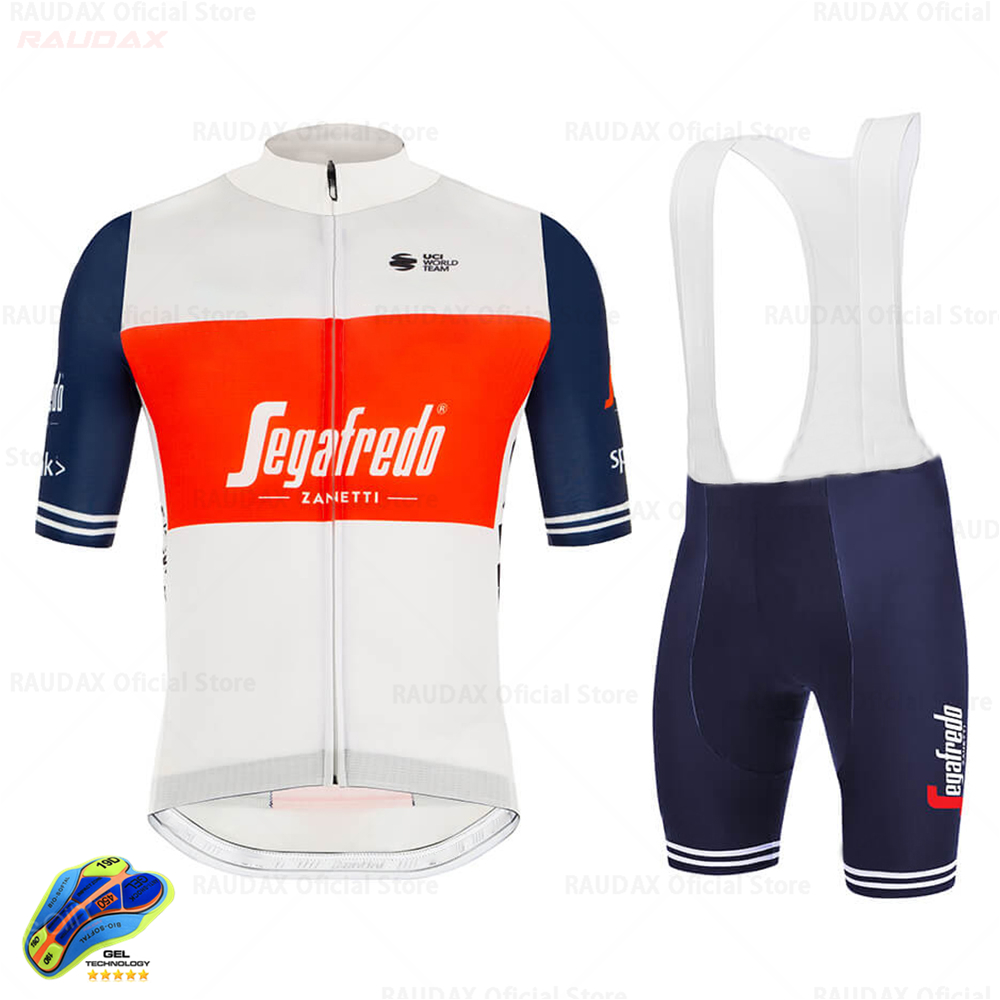Trekking SEGAFREDO 2020 Pro Team Cycling Jersey Set Men's Cycling Clothing MTB Cycling Bib Shorts Bike Jersey Set Ropa Ciclismo