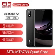 """ELEPHONE A4 3GB 16GB 휴대폰 8MP 후면 캠 안드로이드 8.1 5.85 """"HD + 18:9 노치 스크린 5MP 얼굴 ID MTK6739 쿼드 코어 핸드폰"""