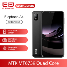"ELEPHONE A4 3GB 16GB Mobile Phone 8MP Rear Cam Android 8.1 5.85"" HD+ 18:9 Notch Screen 5MP Face ID MTK6739 Quad Core Cellphone"