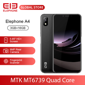 "Image 1 - ELEPHONE A4 3GB 16GB Mobile Phone 8MP Rear Cam Android 8.1 5.85"" HD+ 18:9 Notch Screen 5MP Face ID MTK6739 Quad Core Cellphone"