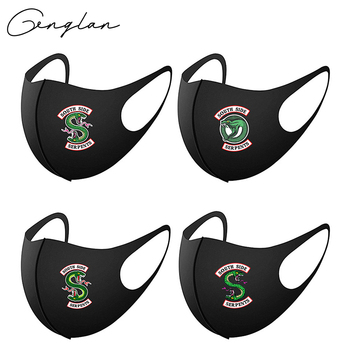 2020 Cotton Riverdale Mask Green Snake Masks Reusable Washable South Side Serpents Cosplay Mouth masque 2020 one piece mask monkey d luffy pirate cotton masks reusable washable skull cosplay masque
