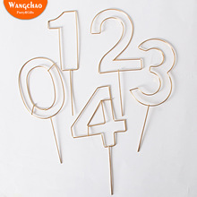 Big Size Iron Numbers 0 to 9 Happy Birthday Cake Topper Party Supplies Kids Favors Beautiful DIY Decoration