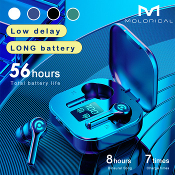 56 HOURS LONG Battery Wireless Bluetooth V5.1 Earphone Colorful Wireless Headphone HIFI Stereo Earbuds Call Earphone with Mic