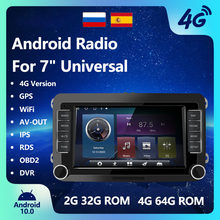 2 Din 7''Car Radio Android 10 Multimedia Player GPS Wifi MP5 Player For Volkswagen VW Bluetooth autoradio radio 2 din android