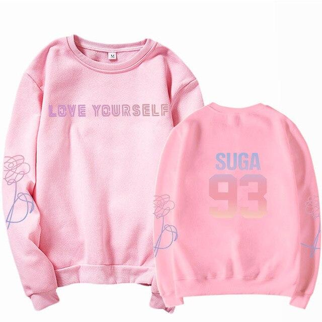 jungkook Unisex hoody kpop suga93 hoodies love KPOP weatshirt love yourself KPOP hoody sweatshirt  harajuku hoodies 6