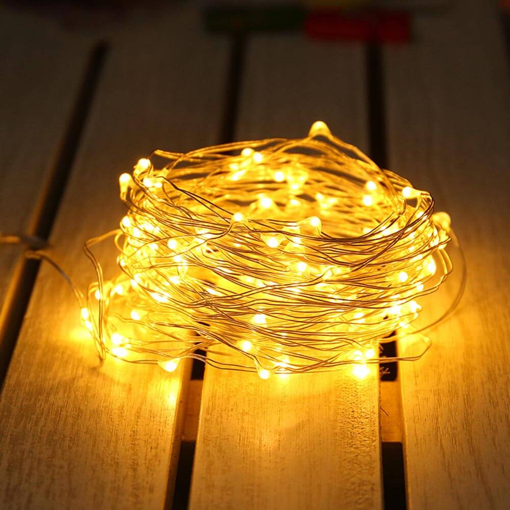 Mini String Light USB Battery 4M 10M Garland Christmas Glass Bottle Wedding Party Decoration Copper Wire Fairy Lights Chain