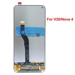 """Image 4 - מקורי 6.4 """"תצוגת עבור Huawei Honor V20 LCD הכבוד להציג 20 תצוגת מגע מסך Digitizer עצרת עבור Huawei נובה 4 מסך"""