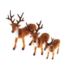 15/20/25cm Christmas Elk Plush Reindeer Christmas Decoration Simulation Christmas Deer Fairy Garden Miniatures Props