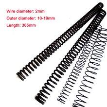 Pressure Spring Wire-Diameter 2mm Length Steel 10-19mm 1PCS 305mm Y-Type