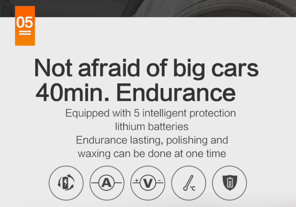 Features of Worx 20V Electric Car Polisher Machine