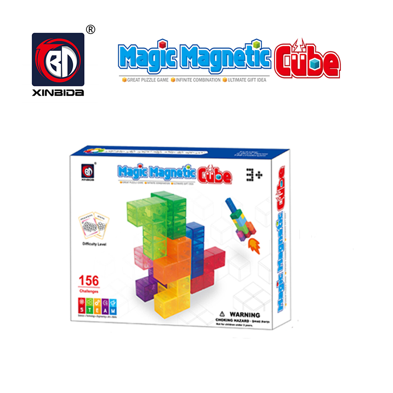 3D Magnetic Building Blocks Transparent Puzzle Kids Toy Educational Game Bricks