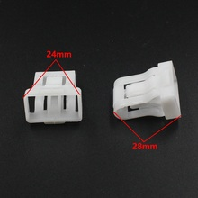 KA LI 20 Pieces Universal Car Seat snaps Retainers Clips White Fasteners Buckle