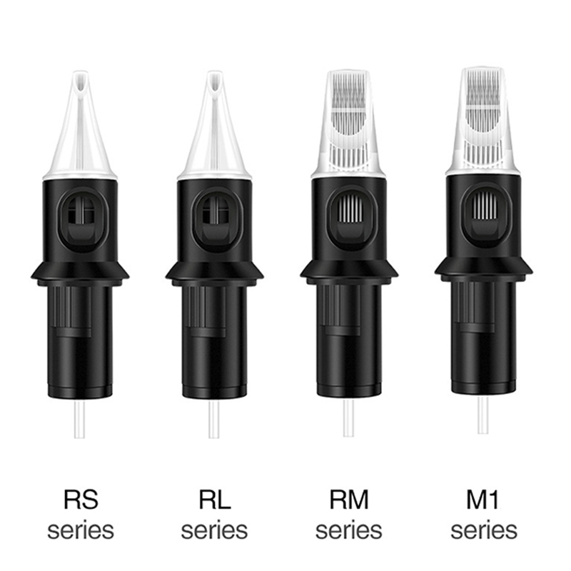 10pcs Tattoo Needles Revolution Cartridge Round Liner For Tattoos Machines #12 0.35mm Needle RL/M1/RM/RS Semi-Permanent Eyebrow