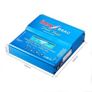 Image 3 - IMAX B6 AC 80W B6AC RC şarj 6A çift kanallı şarj dengeleyici Li ion Nimh Nicd Lipo pil dijital LCD ekran deşarj