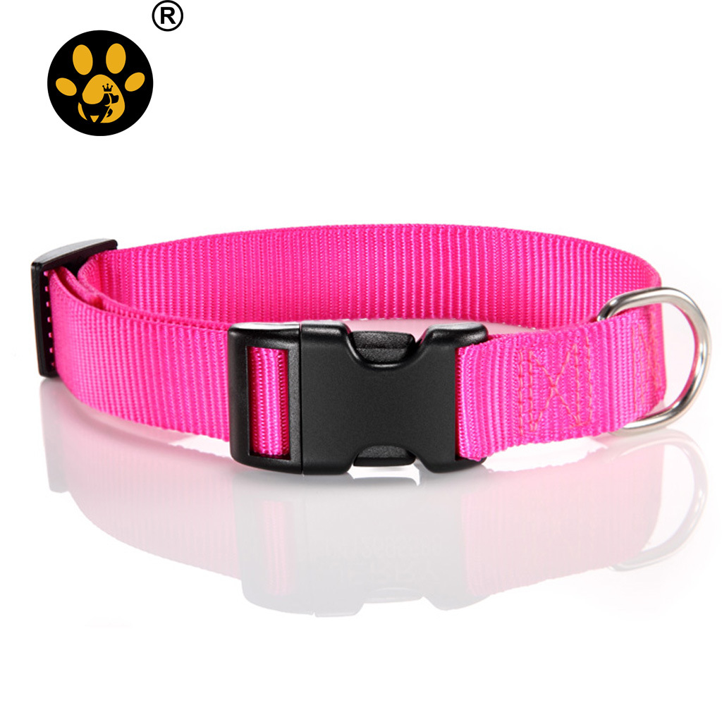 Nylon Dog Collar Plastic Buckle Nylon Pet Collar Ten Colors Pet Collar