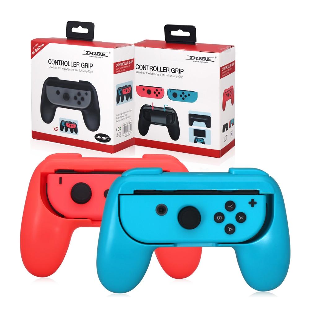 Игровая консоль с джойстиком Joy con, 2 шт., подставка, удобный держатель контроллера для Nintendo Switch, игры для двух игроков Портативные игровые консоли      АлиЭкспресс