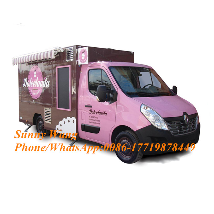 Catering Trailers Mobile Food Trucks Electric Food Cart Crepe Food Kiosk With CE Approved