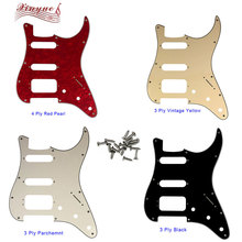 Pleroo Guitar Parts - For US 72 11 Screw Hole Standard St Deluxe Humbucker Hss strat pickguard Multiple colors available