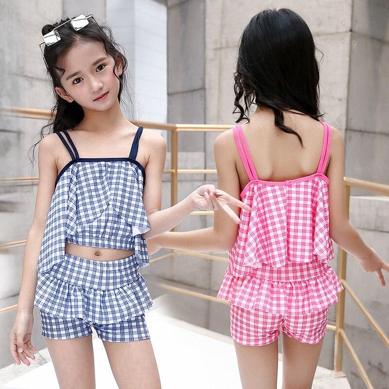 KID'S Swimwear GIRL'S Girls South Korea Cute Tour Bathing Suit Baby Split Type Princess Dress-Big Boy New Style Swimwear