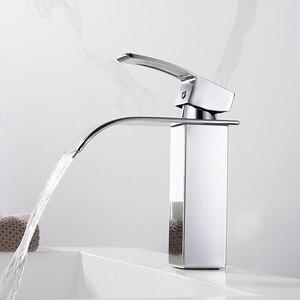 Image 4 - Yepyeni cilalı havzası evye su musluğu tek kolu tek musluk mikser delik güverte üstü havzası banyo musluk WB 003