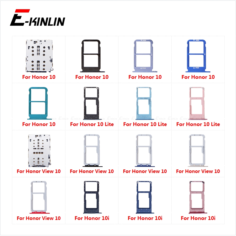 Micro SD Sim Card Tray Socket Slot Adapter Connector Reader For HuaWei Honor View 10 Lite 10i Container Holder Replacement Parts