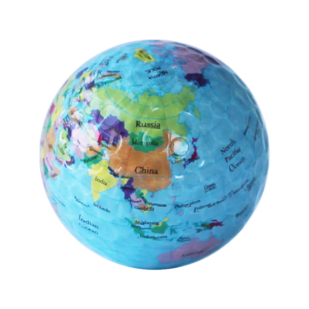 Colorful Children Christmas Kids Practice Pet Outdoor Training Golf Balls Crystal Sticker Birthday Gift Globe Map Toys