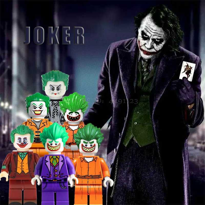 Blok Joker Set Jack Napier Gotham DC Film Justice League Batman Wonder Woman Superman Aquaman Mr. J Mainan Marvel Thor Di Blok