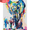 HUACAN DIY Painting By Number Elephant Hand Painted Paintings Drawing On Canvas Gift Coloring By Numbers Animal Kits Home Decor