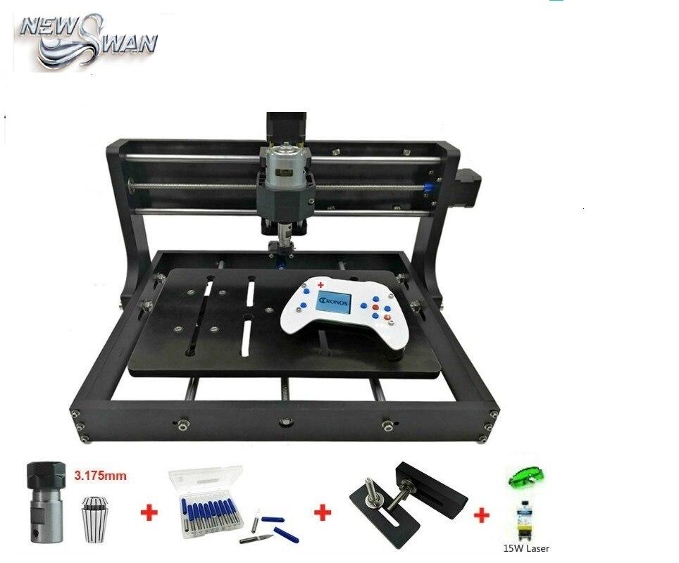 Kostenloser Versand CNC 3020 Mini Desktop Laser Stecher GRBL DIY Holz CNC3020 Router Gravur Maschine für Holz Acryl PVC PCB metall